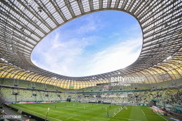 Energa Stadium during the Polish Ekstraklasa match between Lechia Gdansk and Piast Gliwice. .