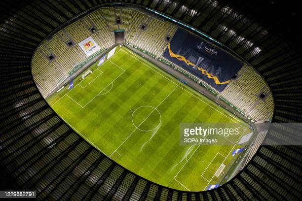 Energa Stadium seen before the match of PKO Ekstraklasa between Lechia Gdansk and Lech Poznan in Gdansk. Gdansk will be a host of UEFA Europa League...