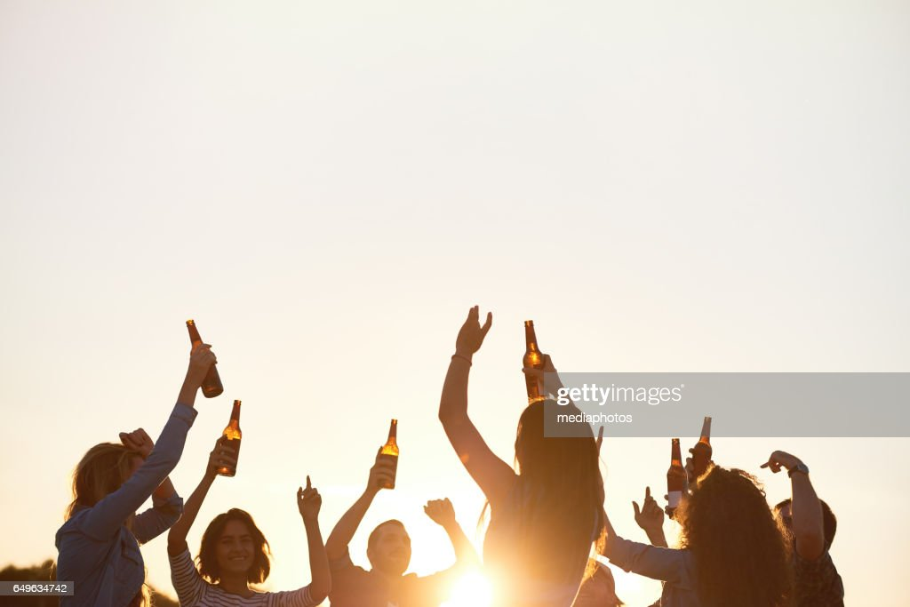 Energetic dance in open-air : Stock Photo