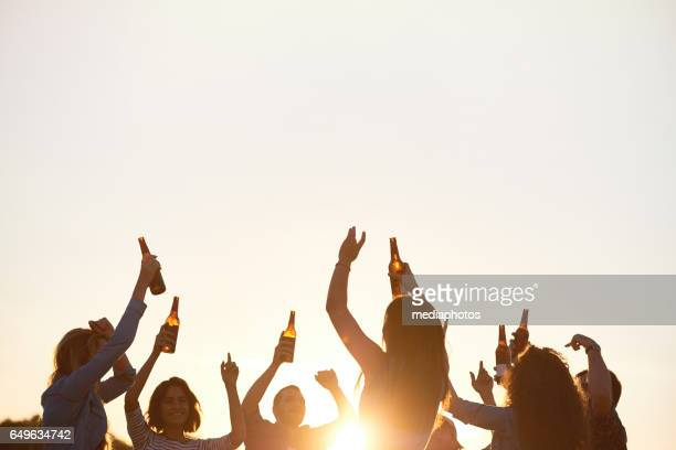 energetic dance in open-air - refreshment stock pictures, royalty-free photos & images