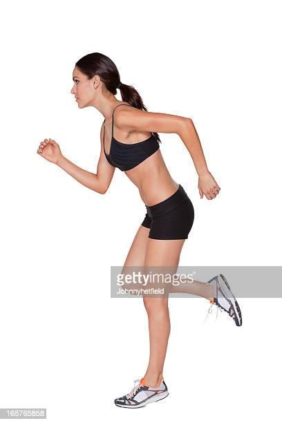 Dynamische Frau Laufen