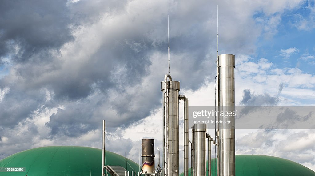 Energiewende Biomass Energy Plant Under An Approaching