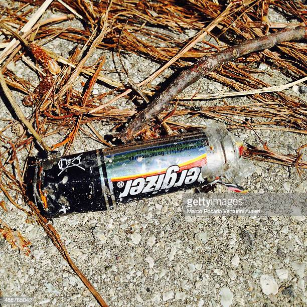 Energizer AA battery abandoned in the environment