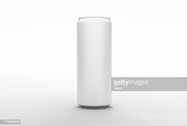 energy aluminum can (front) - clipping paths - tin can stock pictures, royalty-free photos & images