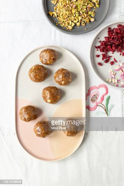 energy ball vegan snack - kildare stock pictures, royalty-free photos & images