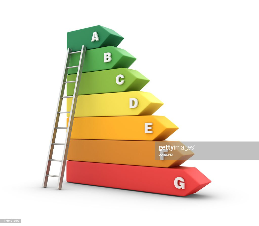 Energy Efficiency Diagram With Stair Stock Photo Getty Images