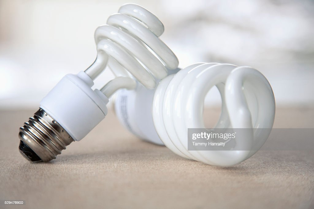 Energy efficient bulbs : Stock Photo