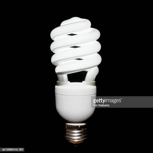 Energy efficient light bulb, close-up