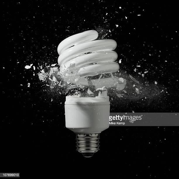 Energy efficient lightbulb exploding
