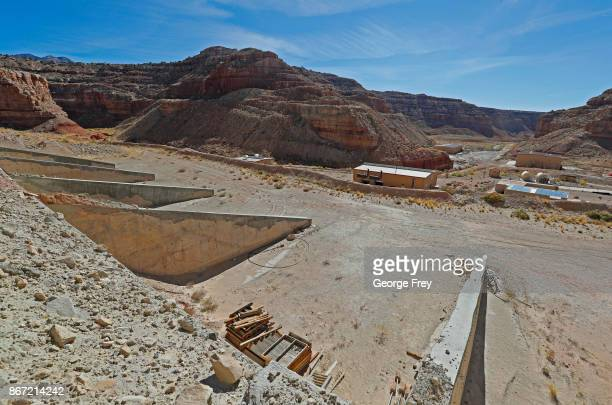 Energy Files Resources Tony M Uranium Mine sits in the middle of the Utah desert on October 27 2017 outside Ticaboo Utah The mothballed mine use to...