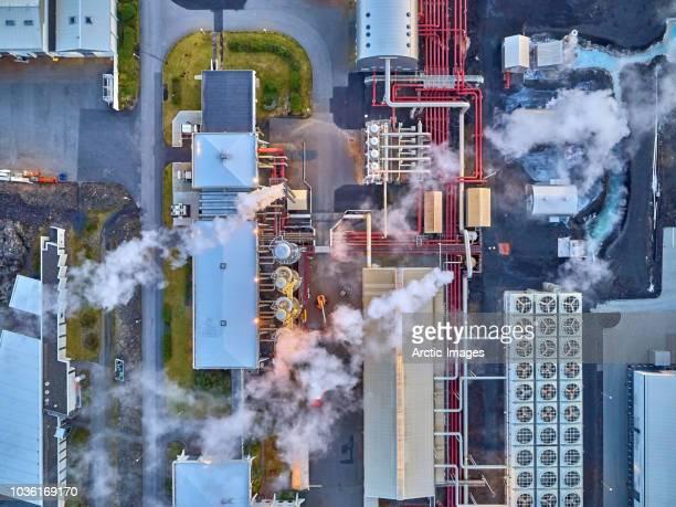energy - geothermal power plant - 火力発電所 ストックフォトと画像