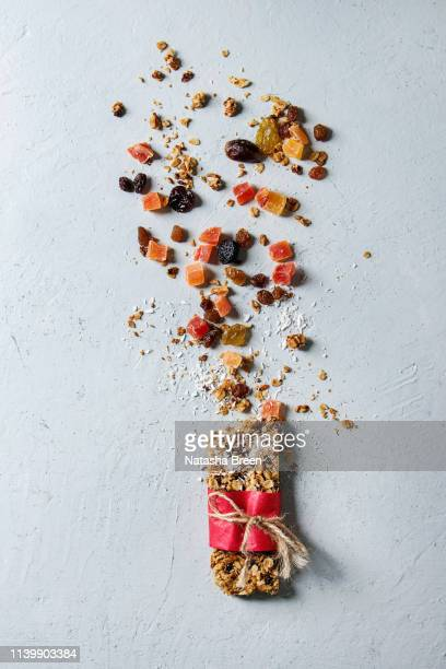 energy granola bar - granola stock pictures, royalty-free photos & images