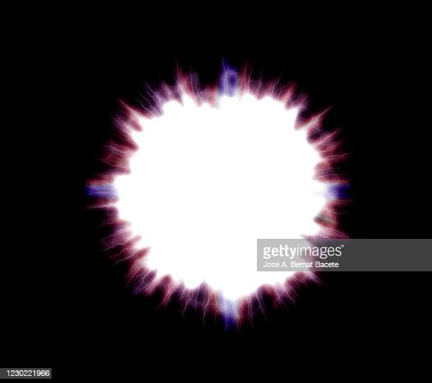energy, lightning on black hole. - explosive material ストックフォトと画像