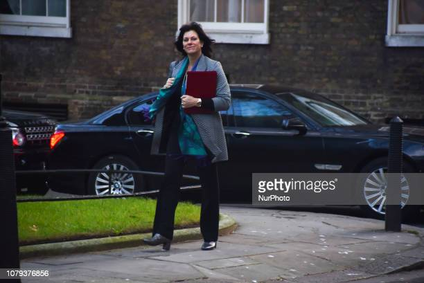 Energy Minister Claire Perry arrives at 10 Downing Street to attend the weekly Cabinet Meeting on January 8 2019 in London England Mrs May will hold...