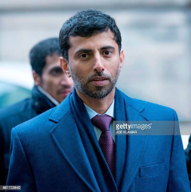 UAE Energy Minister Suhail alMazrouei arrives for the informal meeting of the Organization of the Petroleum Exporting Countries on the eve of the...