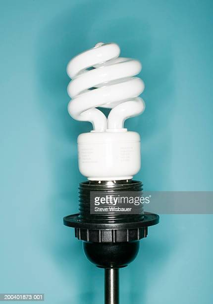 Energy saving lightbulb, close-up