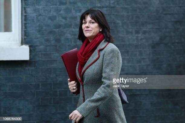 Energy Secretary Claire Perry arrives at 10 Downing Street as Ministers attend a weekly cabinet meeting ahead of a meaningful vote debate on the...