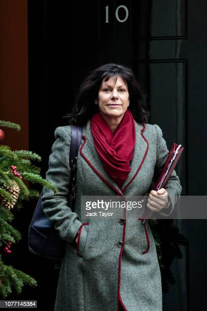 Energy Secretary Claire Perry leaves 10 Downing Street after Government Ministers attended a weekly cabinet meeting ahead of a meaningful vote debate...