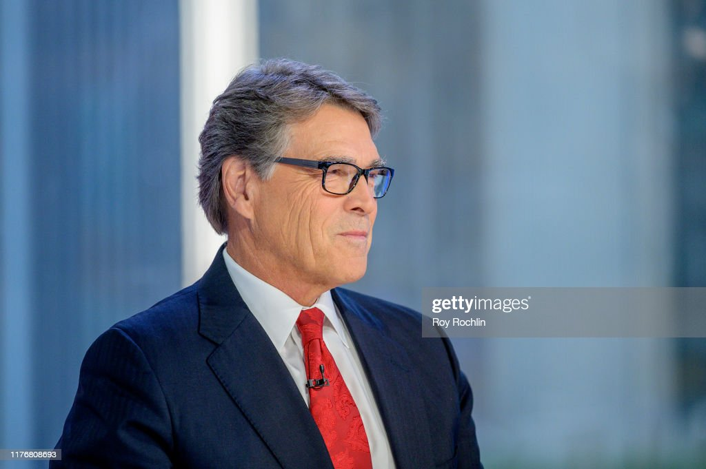 "U.S. Energy Secretary Rick Perry & Former Citigroup CEO And Chairman Sandy Weill Visit ""Mornings With Maria"" : News Photo"