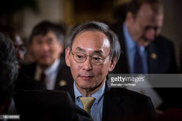 Energy Secretary Steven Chu attends a ceremony at the White House awarding the National Medals of Science and the National Medals of Technology and...