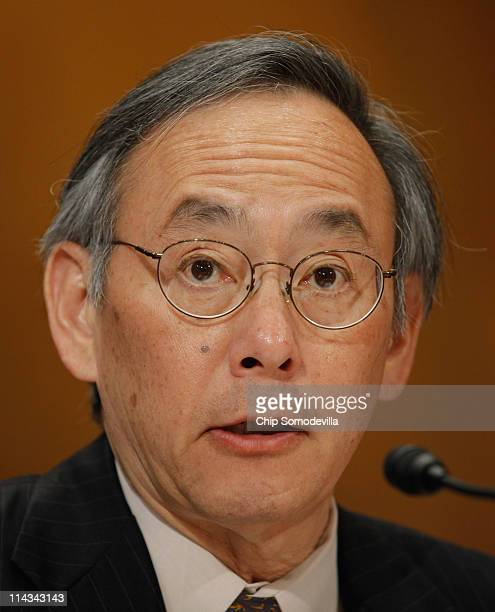 Energy Secretary Steven Chu testifies before the Senate Appropriations Committee Energy and Water Development Subcommittee on Capitol Hill May 18...