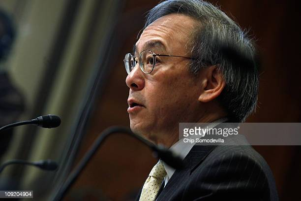 S Energy Secretary Steven Chu testifies before the Senate Energy and Natural Resources Committee on Capitol Hill February 16 2011 in Washington DC...