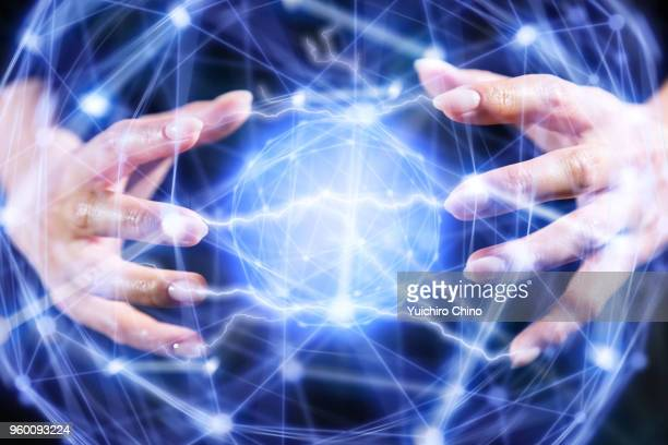 energy structure - hud graphical user interface stock photos and pictures