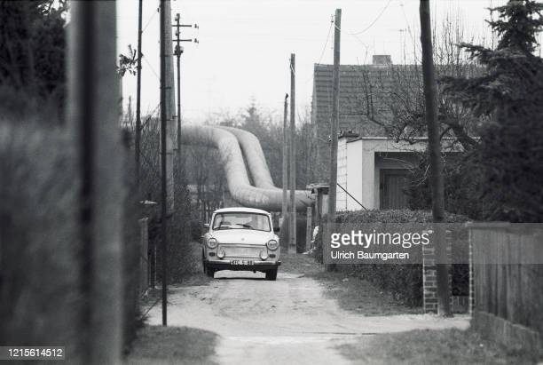 Energy supply in the GDR. District heating pipelines in Dessau.