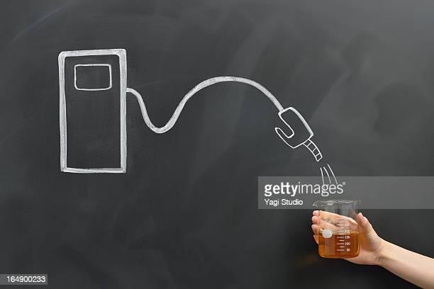 Energy tank drawing on a blackboard
