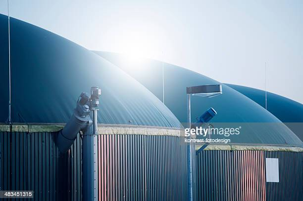 energiewende, biogas energy, germany, biomass - storage tank stock photos and pictures