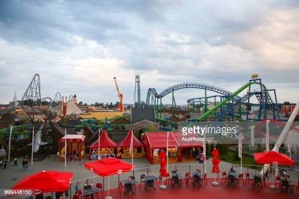 Energylandia Amusement Park in Zator Poland on 14 July 2018 Energylandia is the largest amusement park in the country located in Lesser Poland...
