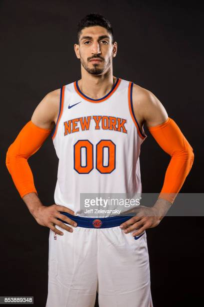 Enes Kanter of the New York Knicks is photographed at New York Knicks Media Day on September 25 2017 in Greenburgh New York