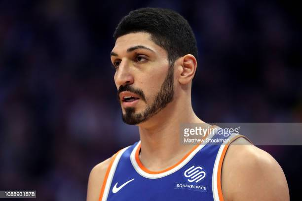 Enes Kanter of the New York Knicks plays the Denver Nuggets at the Pepsi Center on January 01 2019 in Denver Colorado NOTE TO USER User expressly...