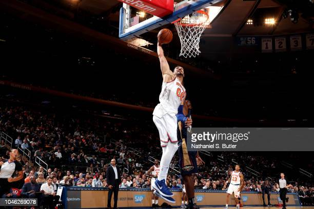 03b281b9df5f Enes Kanter of the New York Knicks shoots the ball against the New Orleans  Pelicans during
