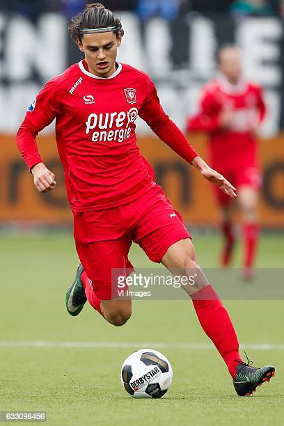 Enes Unal of FC Twenteduring the Dutch Eredivisie match between PEC Zwolle and FC Twente at the MAC3Park stadium on January 29 2017 in Zwolle The...