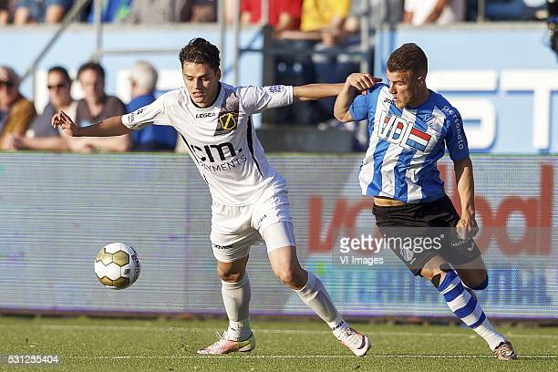 Enes Unal of NAC Breda Thomas Horsten of FC Eindhoven during the Playoffs Promotion/Relegation match between FC Eindhoven and NAC Breda at Jan...