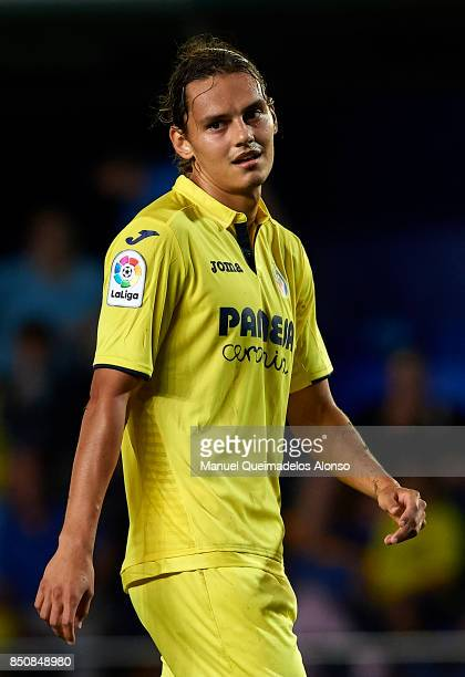 Enes Unal of Villarreal reacts during the La Liga match between Villarreal and Espanyol at Estadio De La Ceramica on September 21 2017 in Villarreal...