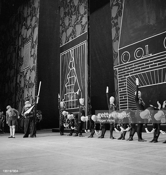 'L'Enfant et les Sortileges' by Maurice Ravel on stage at the Paris Opera May 1939 Directed by Jacques Rouche On the left Jacqueline Courtin and...