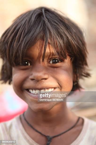 Enfant, Rajasthan, Udaipur, Inde.
