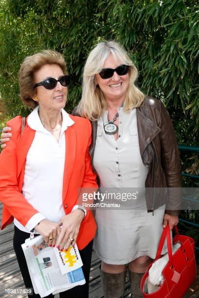Enfants d'Asie Association vice presidente Laurence Villeneuve and Honorary President Charlotte de Turckheim attend Roland Garros Tennis French Open...