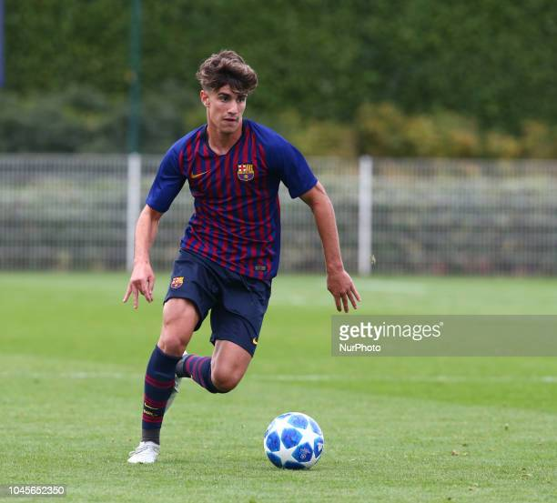 Enfield UK 03 October 2018 Alex Collado Gutierrez of Tottenham Hotspur during UEFA Youth League match between Tottenham Hotspur and FC Barcelona at...