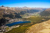 engadine valley with st moritz seen