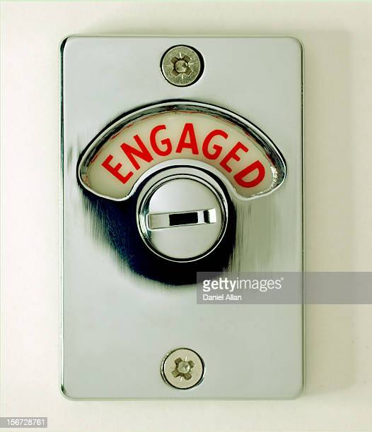 Engaged signn on a door latch
