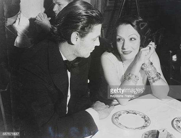 Engagement between the swimmer actor Johnny Weissmuller star of 'Tarzan' and Mexican actress Lupe Velez in Hollywood California in the United States...