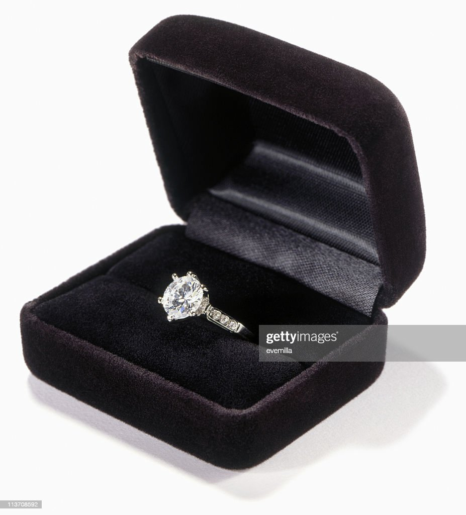 engagement cut out on white : Stock Photo