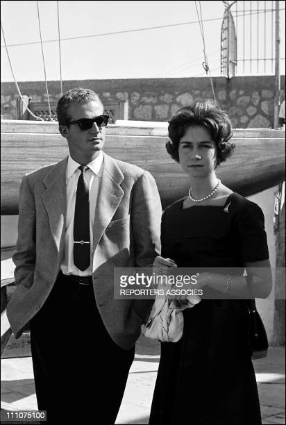 Engagement of Juan Carlos of Spain and Sofia in Spain on September 24th 1961