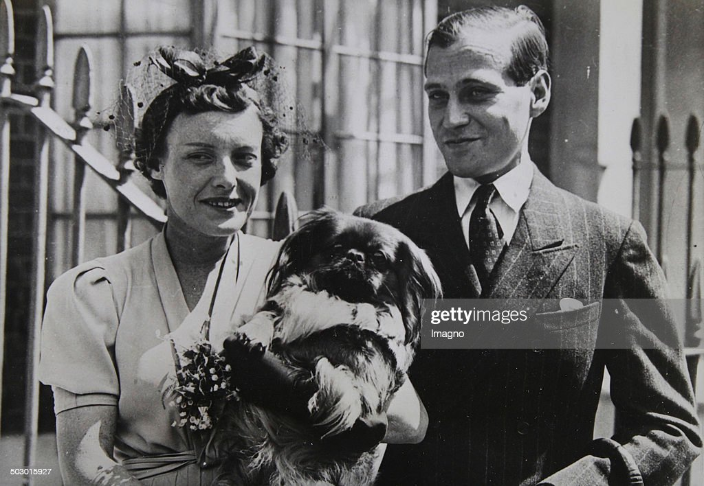 Engagement Of Prince Ludwig Of Hesse And By Rhine (1908-1968) With Margaret Campbell Geddes In London. July 1937. Photograph. : News Photo