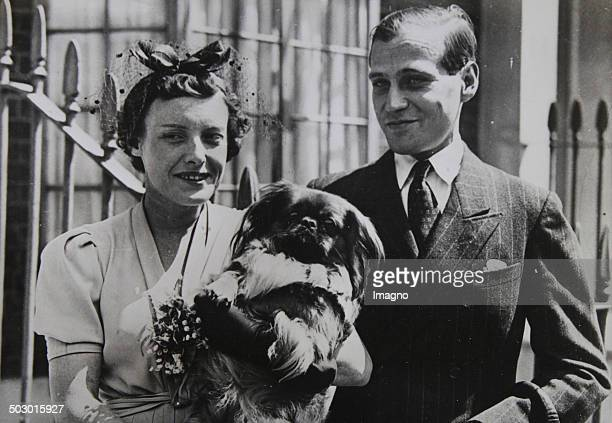 Engagement of Prince Ludwig of Hesse and by Rhine with Margaret Campbell Geddes in London July 1937 Photograph