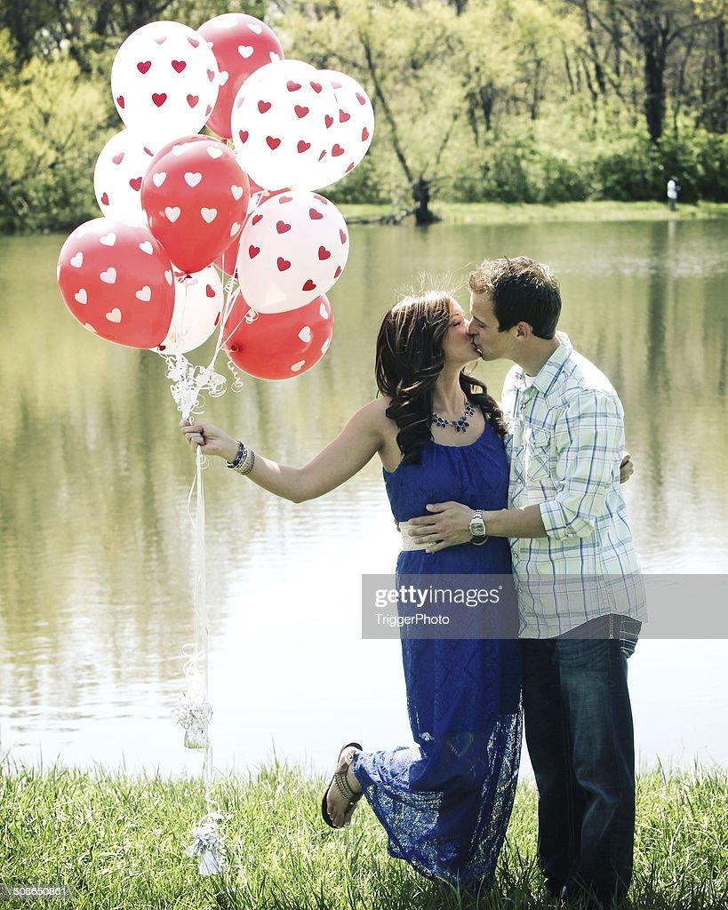 Engagement Portraits : Stock Photo