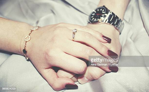 Engagement Ring On Womans Finger